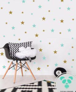 מדבקות קיר כוכבים בגדלים שונים