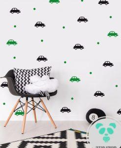 מדבקות קיר מכוניות בצבעים