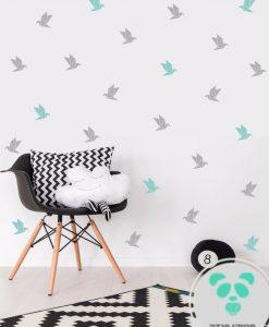 מדבקות קיר אוריגמי ציפור