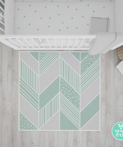 שטיח לחדר ילדים טקסטורה גיאומטרית