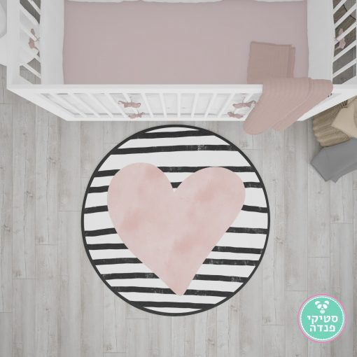 שטיח PVC לב לחדר ילדים