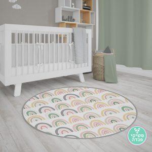 שטיח לחדר ילדים קשתות צבעוניות