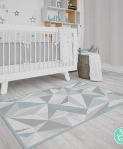 שטיח לחדר ילדים נורדי טריאנגולר