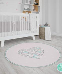 שטיח לחדר ילדים - לב משולשים