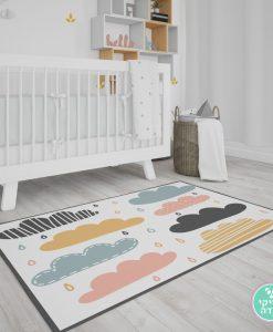 שטיח לחדר ילדים טיפות גשם