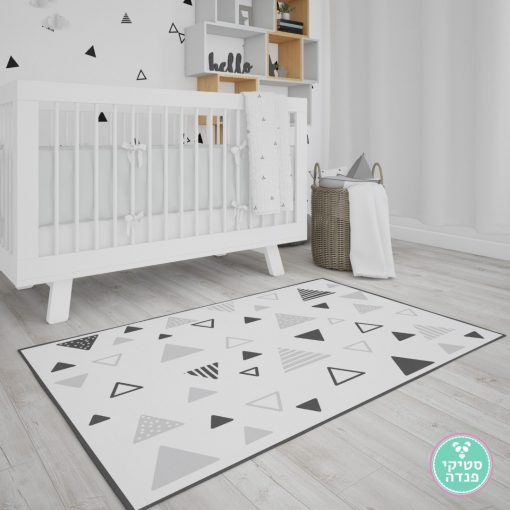 שטיח נורדי משולשים מפוספסים חלולים ומלאים