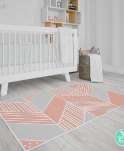 שטיח PVC לחדר ילדים - טקסטורה גיאומטרית