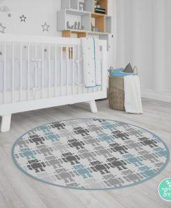 שטיח לחדר ילדים רובוטים