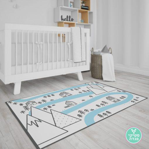 שטיח לחדר ילדים נורדי הנהר הקסום
