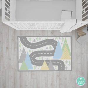 שטיח לחדר ילדים - שביל בטבע