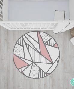 שטיח טקסטורת משולשים - וורוד
