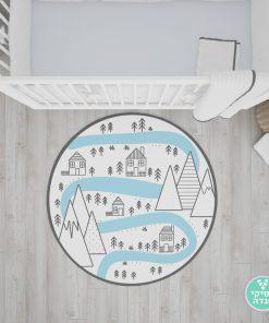 שטיח נורדי לחדר ילדים